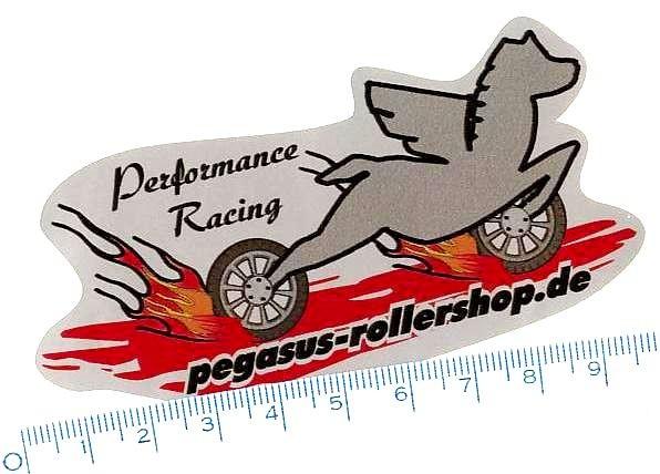 "Aufkleber PEGASUS ""Performance Racing"""
