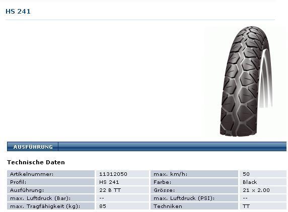 Reifen Mofa Moped Mokick 200 x 17 ( 21 - 2.00)