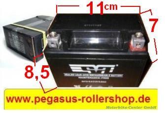 Batterie alle 2-Takt SYM ROLLER 50 ccm Modelle