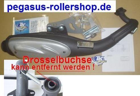 """Auspuff 50ccm Nachbau mit """"E.-Pass"""" PEGASUS 50ccm"""