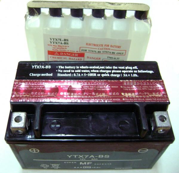 Batterie SYM Orbit I+ II ccm / Fiddle II 50 ccm, Mio 50