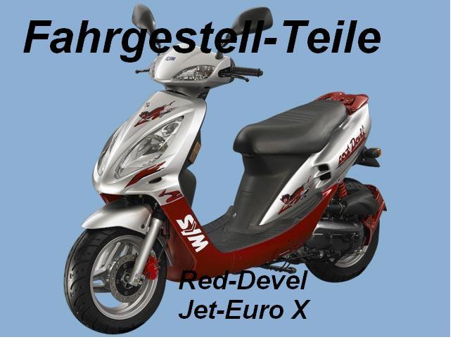 sym jet 50 red devil 50 euro x e1 e2 fahrgestell teile. Black Bedroom Furniture Sets. Home Design Ideas
