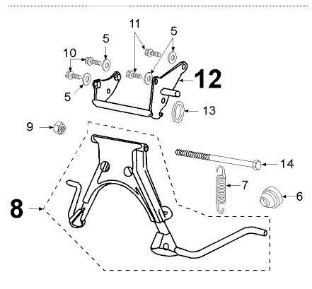 st nderfeder peugeot speedfight 1 und 2 viva 50. Black Bedroom Furniture Sets. Home Design Ideas