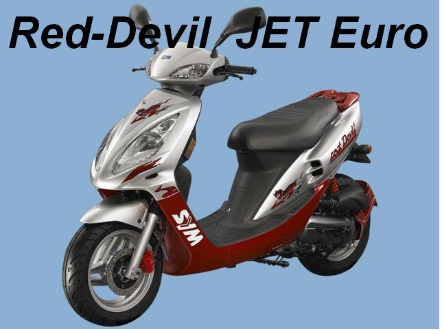 sym jet red devil sym scooter bis 50ccm sym. Black Bedroom Furniture Sets. Home Design Ideas